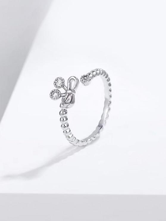 Bowknot Hohlöffnungsring - Silber