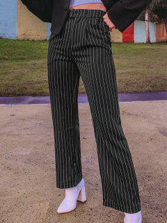 ZAFUL Pinstriped Straight Pocket Tailored Pants - Black M