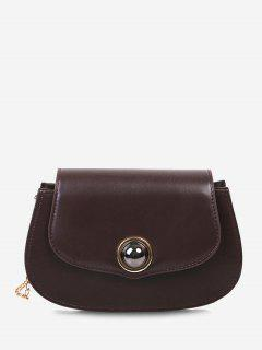 Spherical Bead Chain Crossbody Bag - Brown