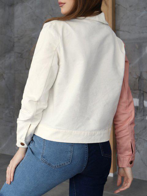 ZAFUL Bicolor Taschen Knopf Jacke - Multi-A L Mobile