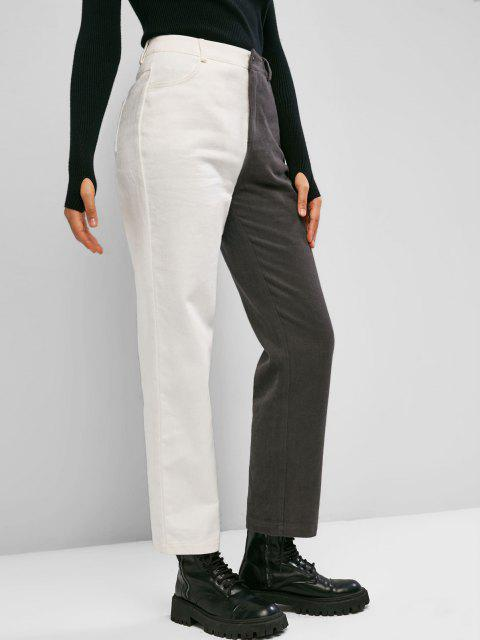 online ZAFUL Bicolor Twill Straight Pants - MULTI-A S Mobile
