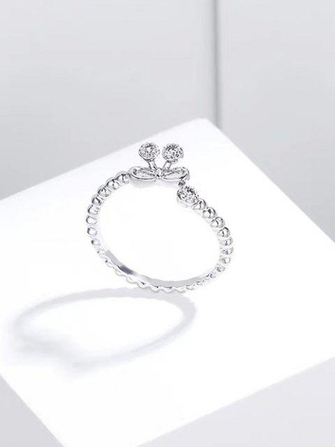 affordable Bowknot Hollow Opening Ring - SILVER  Mobile