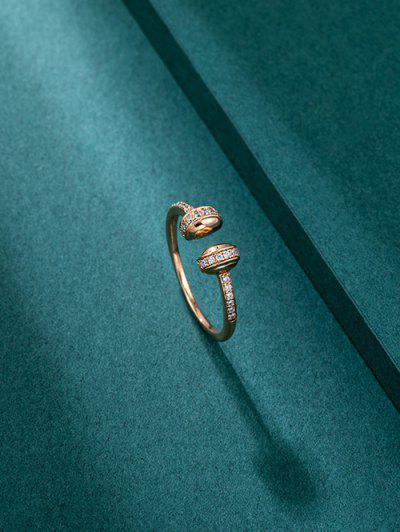 Zircon Gold-plated Opening Ring - Golden