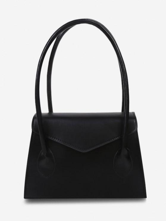 buy Top Handle Square Flap Tote Bag - BLACK