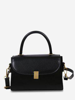 Mini Dual Handle Flap Crossbody Bag - Black