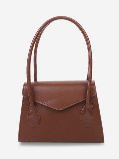 Quadratische Top Griff Handtasche - Braun