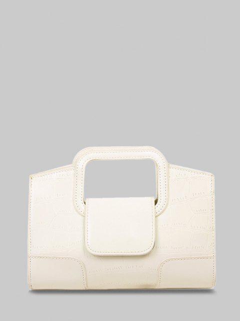 Borsa a Tracolla Goffrata con Cinghia - bianco di cream  Mobile
