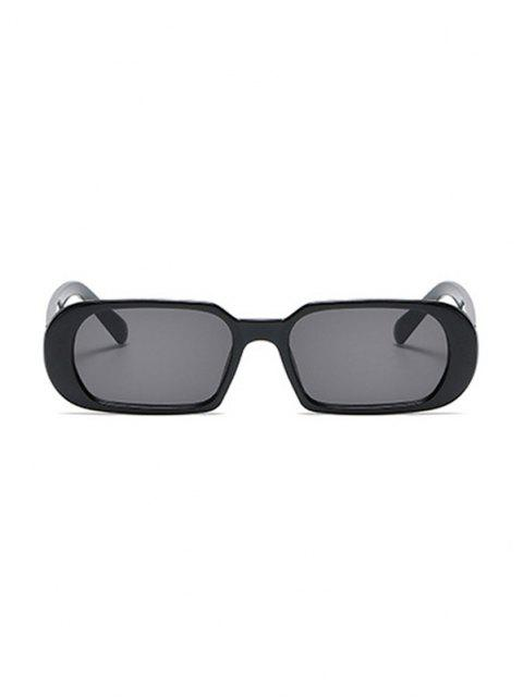women Narrow Oval Outdoor Sunglasses - BLACK  Mobile