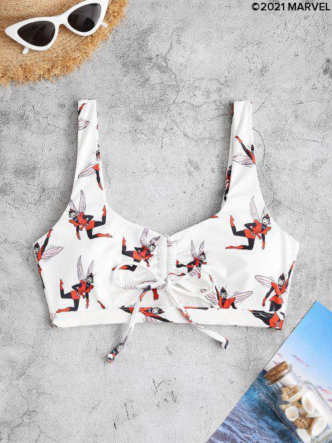 Haut de Bikini 180 LM Côtelé Diagonale Entrelacé - Blanc S Mobile