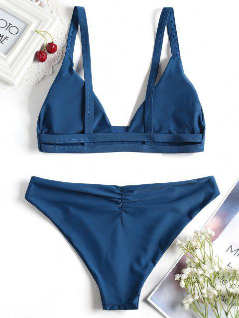 Bikini Simple à Bretelle Découpé en Echelle - Paon Bleu M Mobile