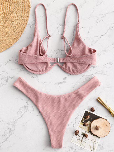 Bikini con Ferretto di ZAFUL - Rosa Brown S Mobile