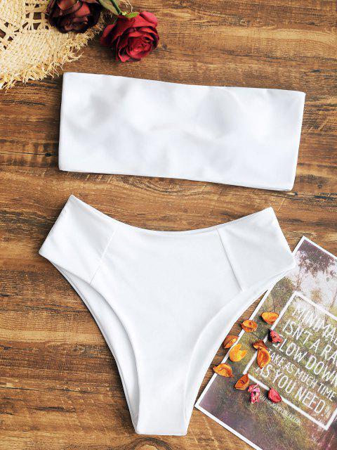Costume Da Bagno A Fascia Con Taglio Alto - Bianca L Mobile