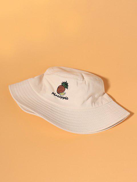 Ananas Stickerei Bucket Hat - Warmweiß  Mobile