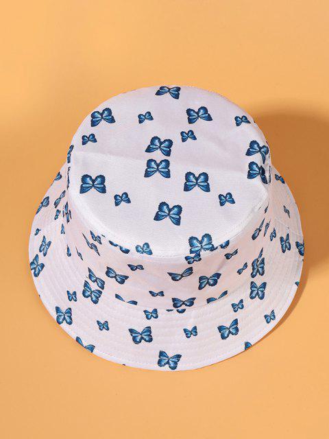 Chapeau Seau Papillon Imprimé - Blanc  Mobile
