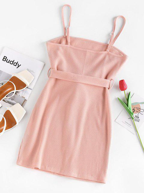 ZAFUL Gestricktes Bodycon Minikleid - Hell-Pink L Mobile