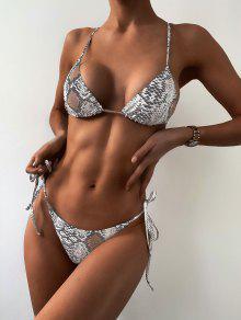 ZAFUL ليوبارد Bralette سلسلة بيكيني ملابس السباحة - متعددة-a M