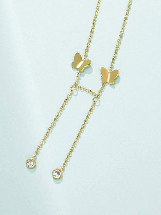 hot Butterfly Chain Charm Necklace - GOLDEN