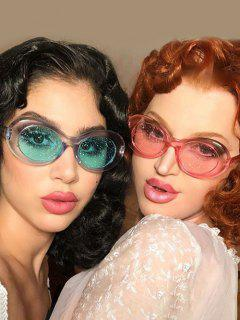 Gafas De Sol Marco Plástico En Forma Ovalada - Rosa Claro