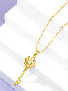 Hohle Schlüssel Anhänger Kette Halskette - Golden
