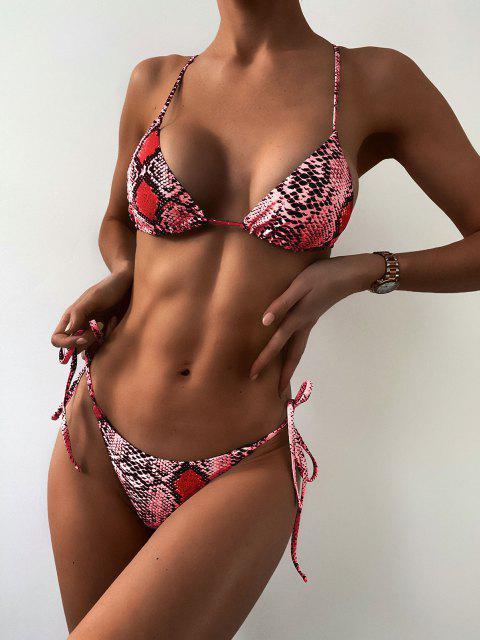 ZAFUL Maillot de Bain Bikini Peau de Serpent - Multi-B M Mobile