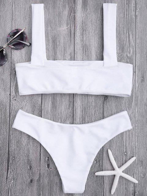 Bikini Top A Fascia Imbottito E Bottoms - Bianca M Mobile