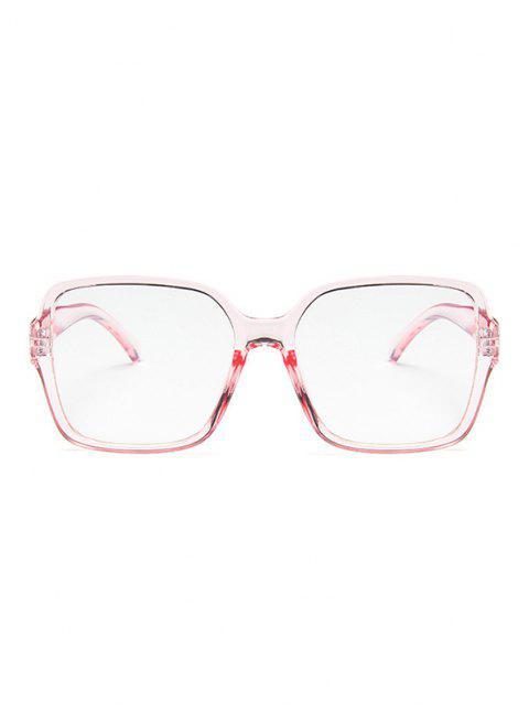 Kurze Übergroße Quadratische Brille - Helles Rosa  Mobile