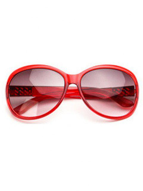 shops Round Frame Wide Arm Gradient Sunglasses - RED WINE  Mobile