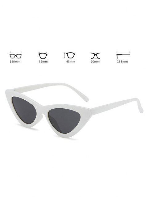 shops Retro Triangle Frame Slim Sunglasses - MILK WHITE  Mobile