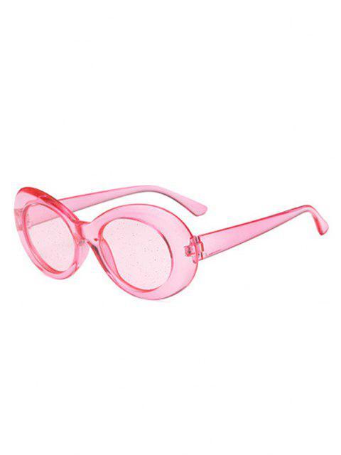 ladies Oval Shaped Plastic Frame Sunglasses - LIGHT PINK  Mobile