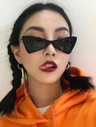 Outdoor Eyewear Animal Eye Pattern Sunglasses - Black