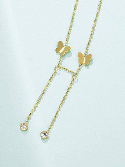 Butterfly Chain Charm Necklace - Golden