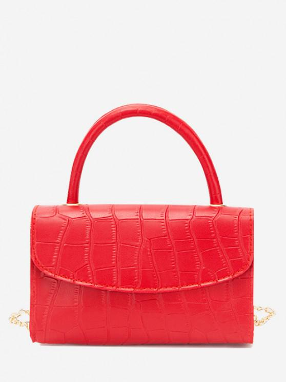 new Croc Printed Chain Crossbody Bag - RED