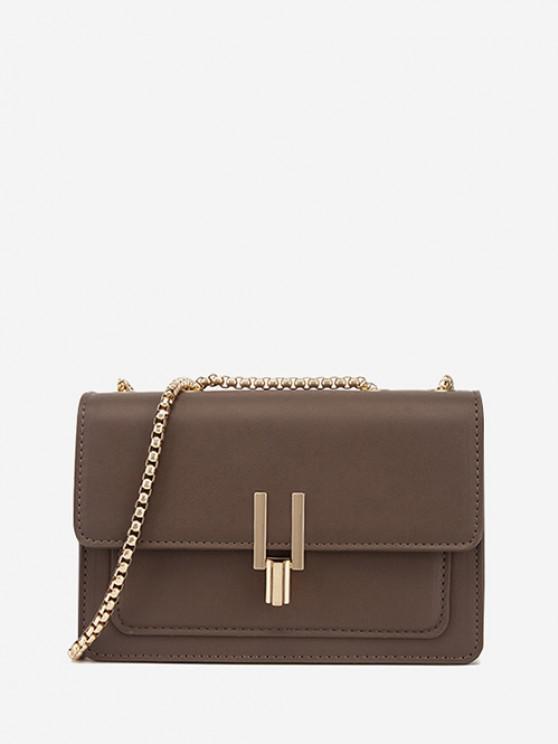 online Boxy Flap Chain Mini Shoulder Bag - MOCHA REGULAR