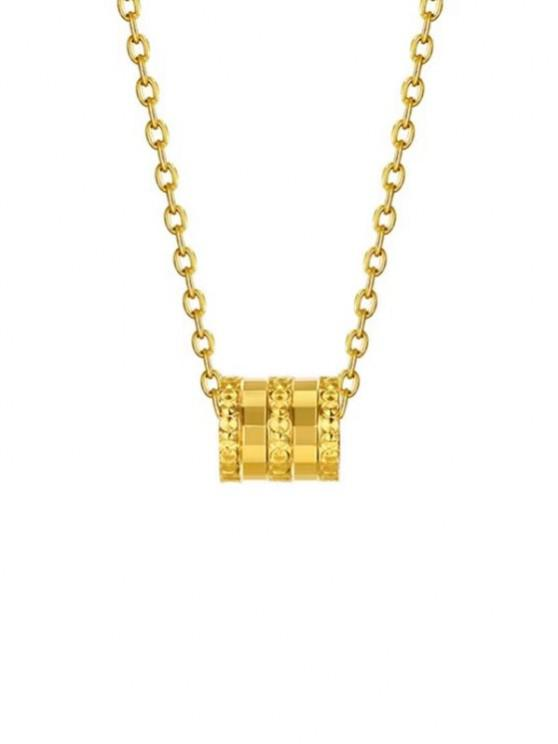 trendy Small Waist Pendant Plated Gold Necklace - GOLDEN