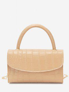 Croc Printed Chain Crossbody Bag - Tan