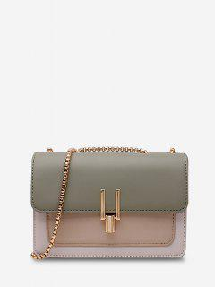 Boxy Flap Chain Mini Shoulder Bag - Camouflage Green Regular