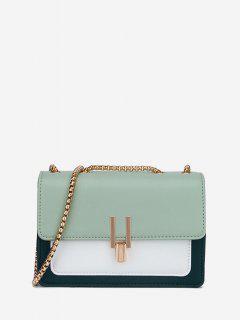 Boxy Flap Chain Mini Shoulder Bag - Light Green Regular