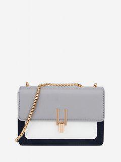Boxy Flap Chain Mini Shoulder Bag - Light Gray Regular
