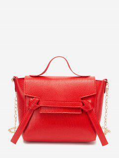 Bolsa Transversal Com Canvas Casual - Vermelho