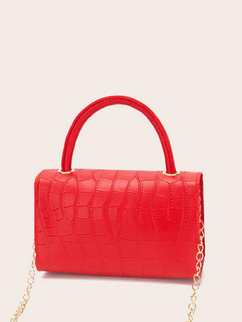 new Croc Printed Chain Crossbody Bag - RED  Mobile