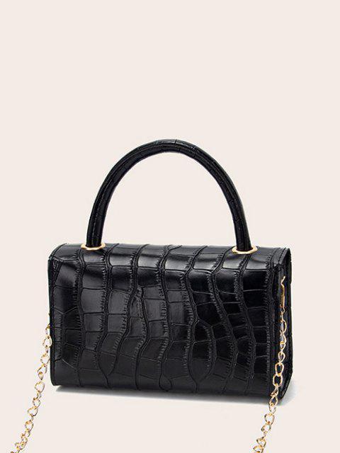 hot Croc Printed Chain Crossbody Bag - BLACK  Mobile