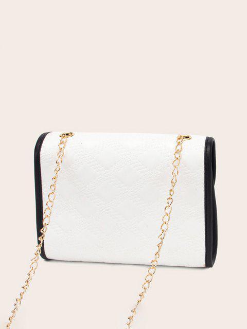 Vielseitige PLAIF-geprägte Crossbody-Tasche - Weiß  Mobile