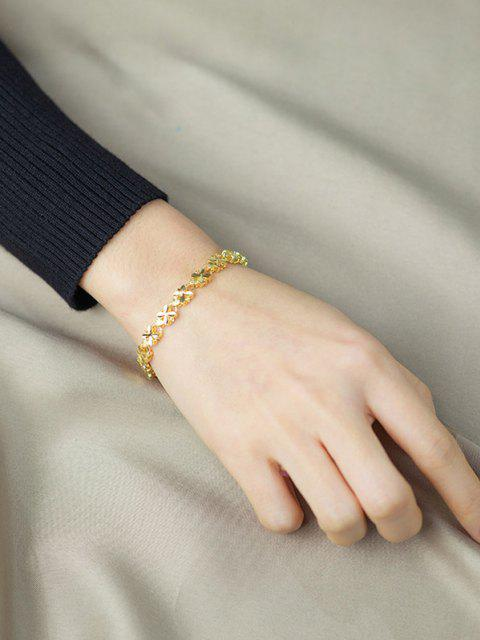 best Four-leaf Plated Gold Chain Bracelet - GOLDEN  Mobile