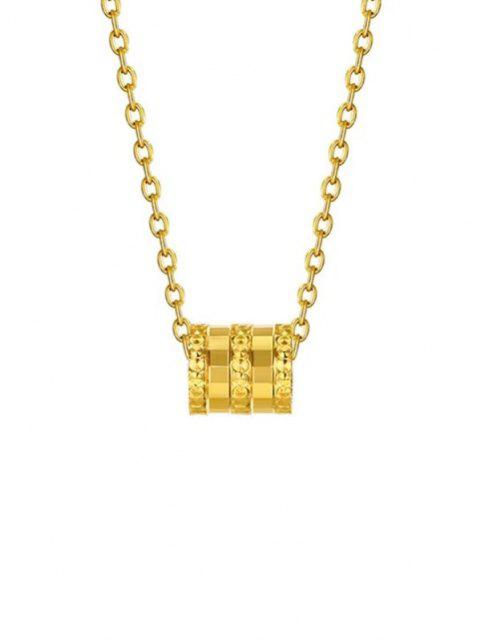 trendy Small Waist Pendant Plated Gold Necklace - GOLDEN  Mobile