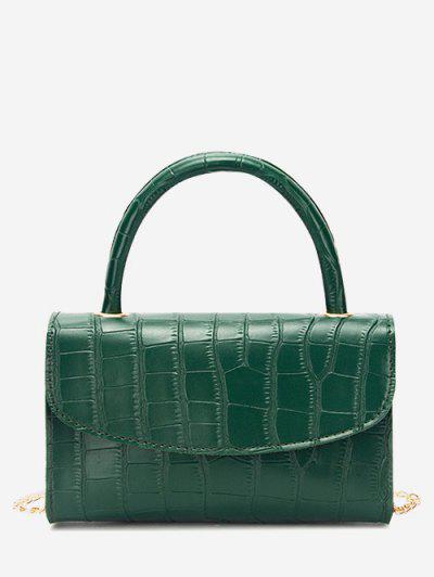 Croc Printed Chain Crossbody Bag - Medium Sea Green