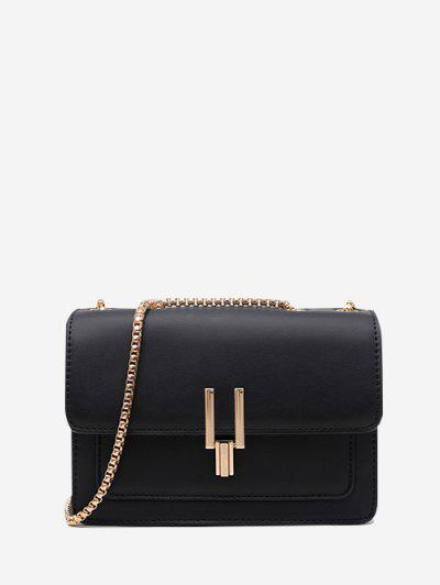 Boxy Flap Chain Mini Shoulder Bag - Black Regular