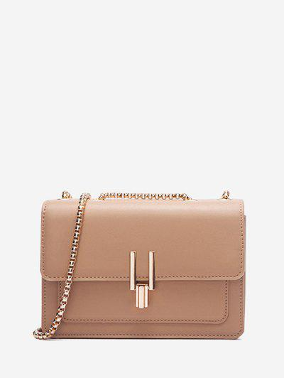 Boxy Flap Chain Mini Shoulder Bag - Camel Brown Regular