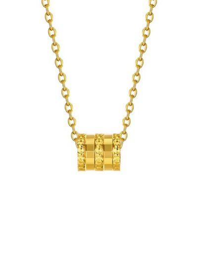 Small Waist Pendant Plated Gold Necklace - Golden