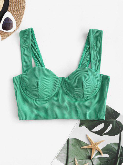 ZAFUL Haut de Bikini Côtelé à Armature - Vert M Mobile