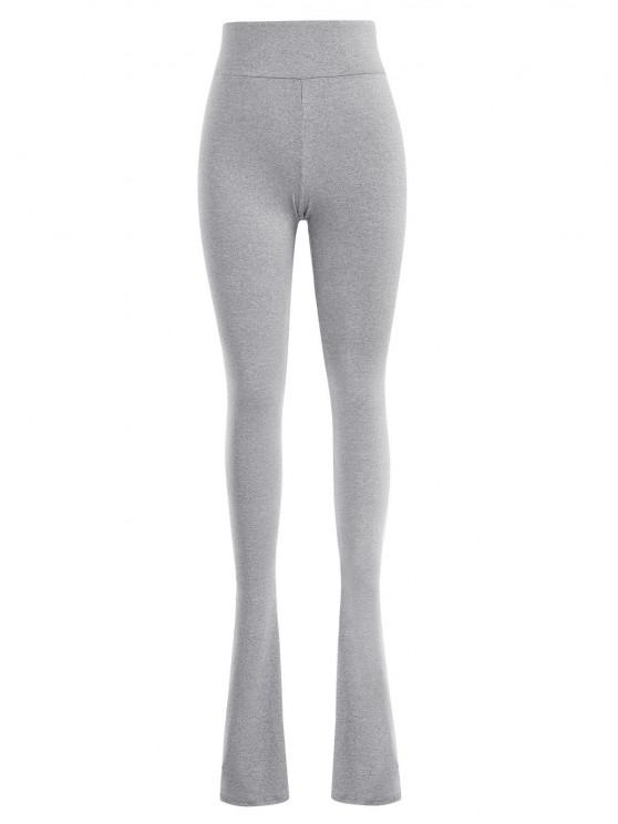 women Marled Skinny Jersey Long Stacked Pants - GRAY S